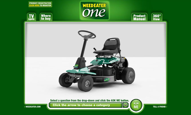 Photo Hcamp860 I Just Purchased A Weed Eater One Riding Mower