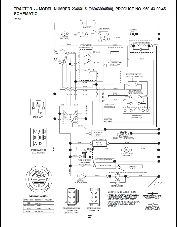 Husqy_tractor_schematic battery charing problems on a 2346xls tractor riding lawn mowers husqvarna lawn mower wiring diagram at gsmx.co
